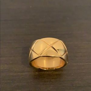 Jewelry - Coco crush quilted wide gold band ring 7